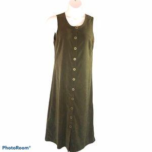 Christopher & Banks green sheath maxi dress Sz 10